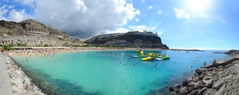 Praia de Amadores, Ilhas Canárias, Espanha imagens de stock