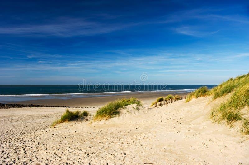 Praia de Ameland imagem de stock