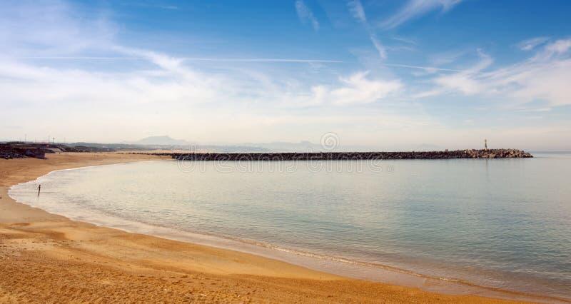 Praia de Anglet, plage de la barra imagens de stock