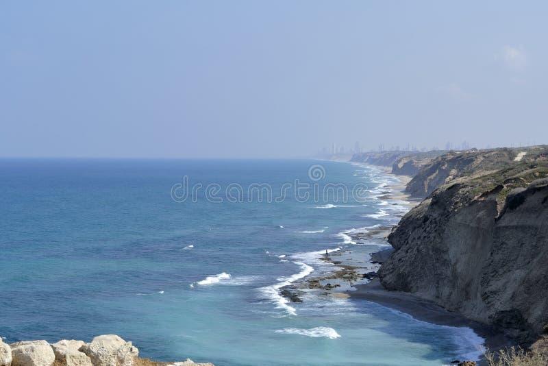 Praia de Apollonia perto de Tel Aviv foto de stock royalty free
