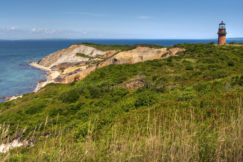 Praia de Aquinnah, Martha's Vineyard imagem de stock