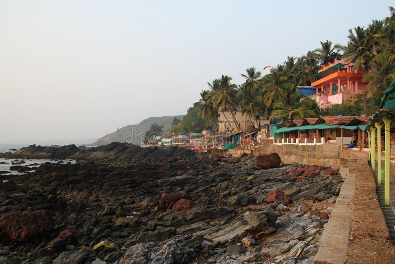 Praia de Arambol, Goa imagens de stock royalty free