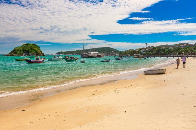 Praia de Armacao em Buzios, Rio de janeiro imagem de stock