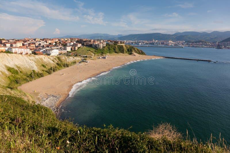 Praia de Arrigunaga fotos de stock royalty free