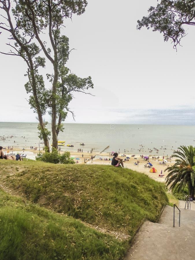 Praia de Atlantida em Uruguai foto de stock royalty free