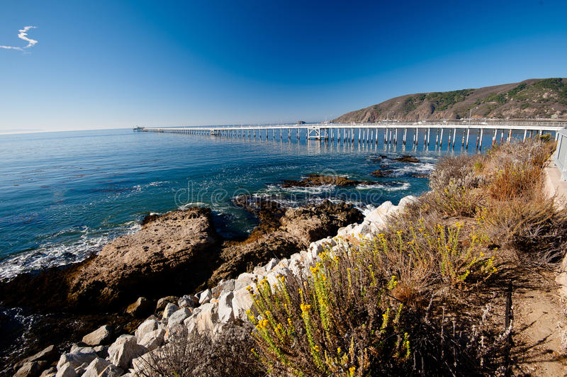 Praia de Avila - costa de Califórnia fotos de stock royalty free