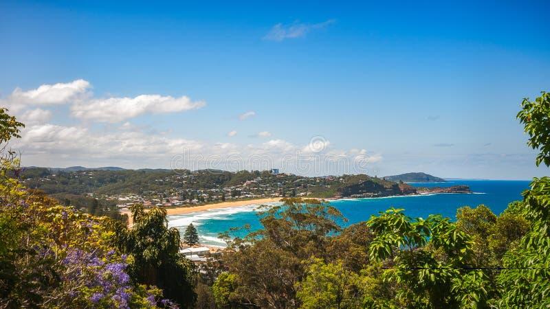 Praia de Avoca - Austrália fotografia de stock