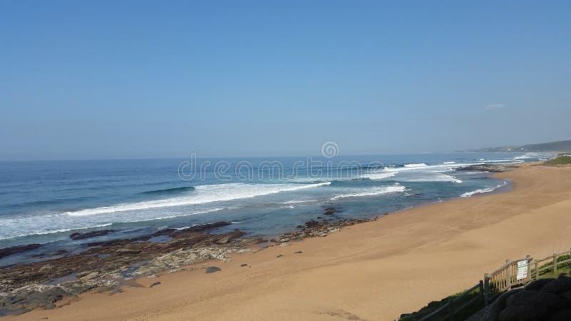 Praia de Ballito imagens de stock