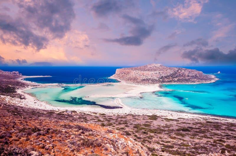 Praia de Balos, ilha de Grécia foto de stock royalty free
