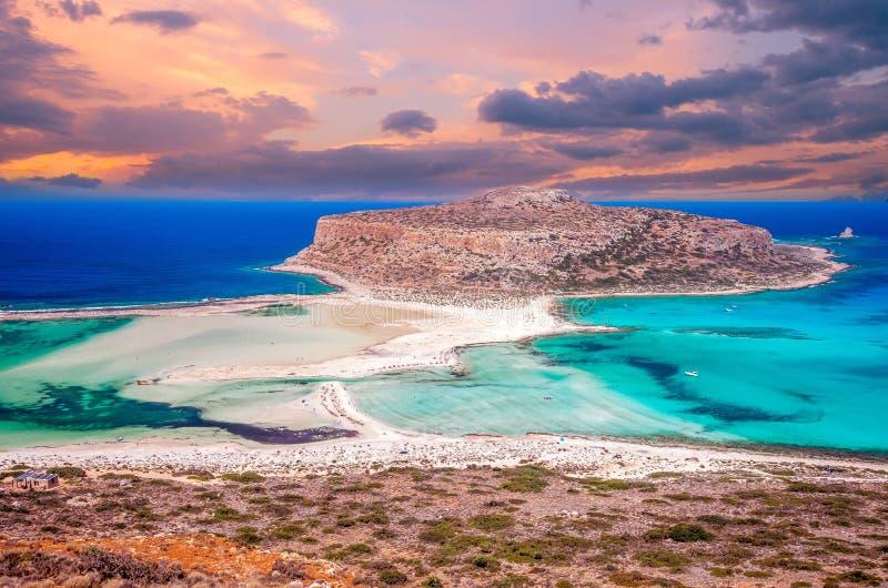 Praia de Balos, ilha de Grécia imagens de stock royalty free