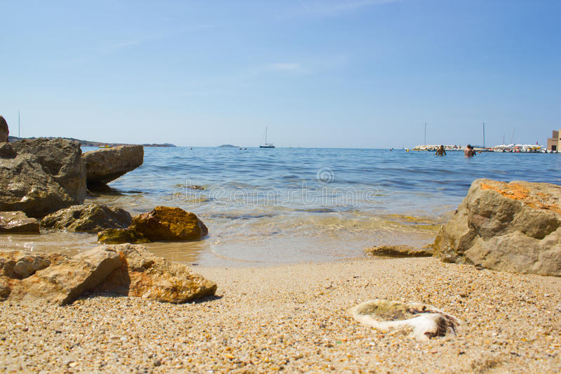 Praia de Bandol imagem de stock royalty free