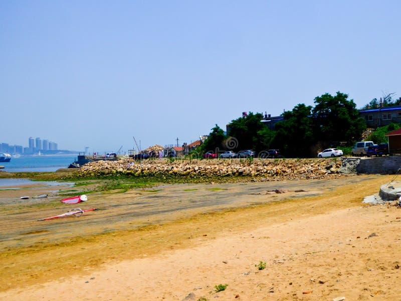 Praia de banho da cidade de Qingdao fotografia de stock royalty free