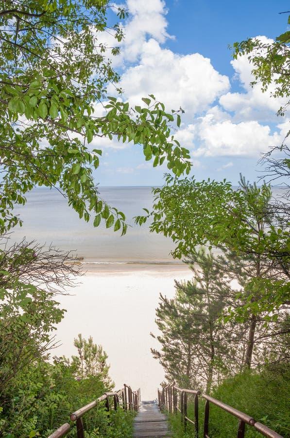 Praia de Bansin, ilha de Usedom, mar Báltico, Alemanha fotografia de stock
