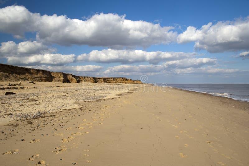 Praia de Benacre, Suffolk imagem de stock royalty free