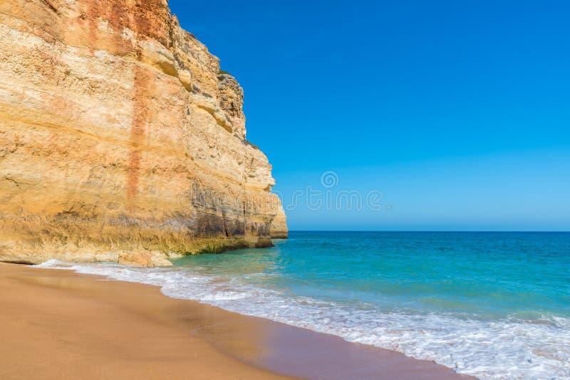 Praia de Benagil - belles plage et c?te au Portugal, Algarve images libres de droits