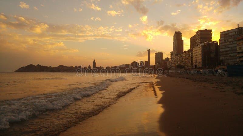 Praia de Benidorm fotos de stock royalty free
