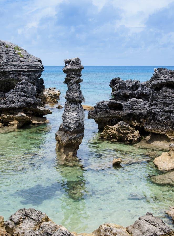 Praia de Bermuda. imagem de stock