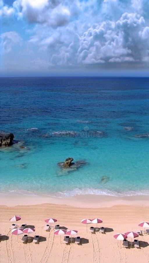 Praia de Bermuda fotografia de stock