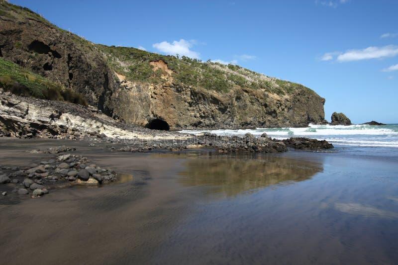 Praia de Bethells fotos de stock