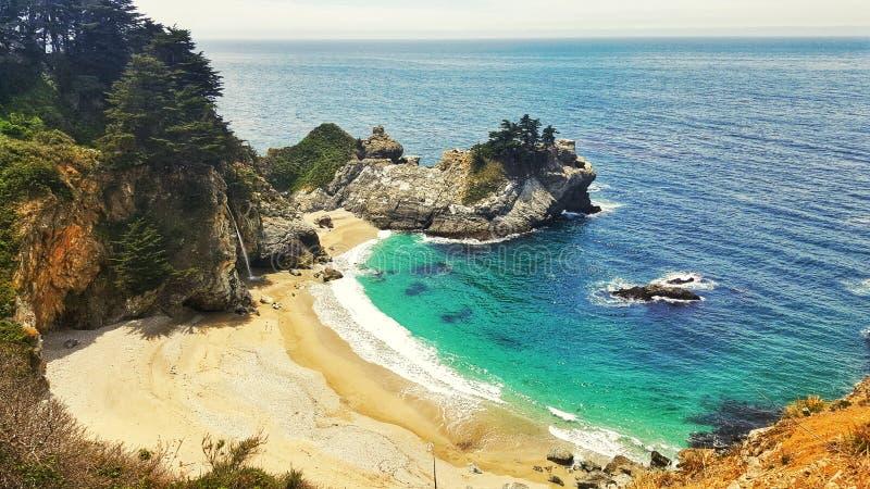 Praia de Big Sur em Califórnia EUA imagem de stock
