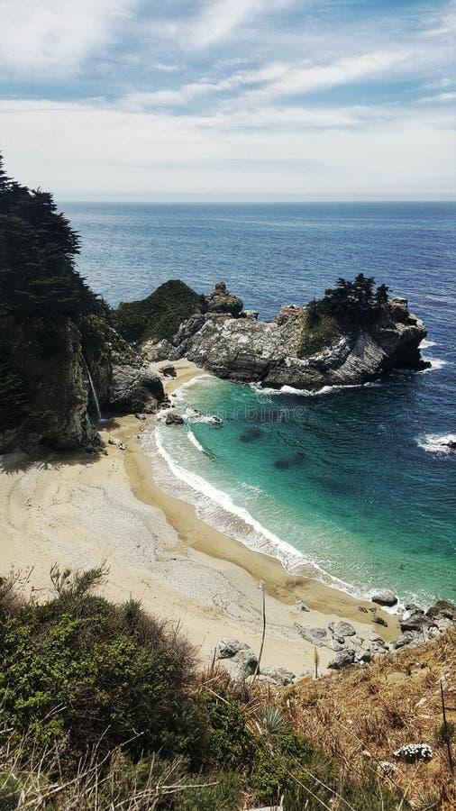 Praia de Big Sur em Califórnia EUA fotografia de stock