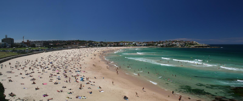 Praia de Bondi foto de stock