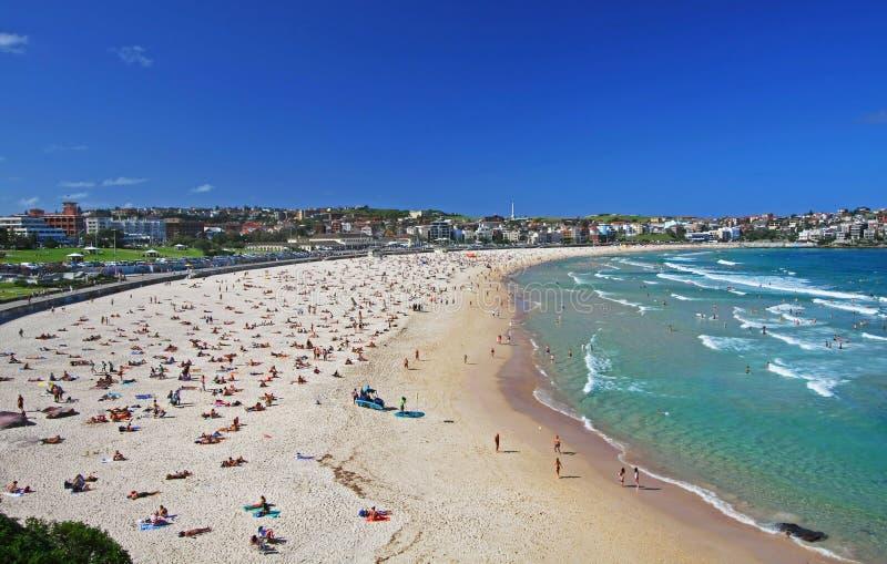 Praia de Bondi em Sydney, Austrália imagem de stock