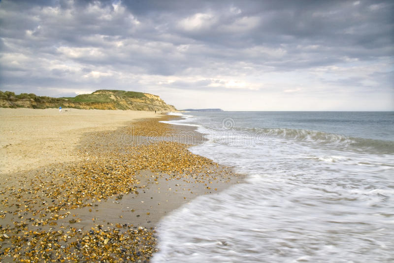 Praia de Bornemouth - Dorset, Inglaterra foto de stock