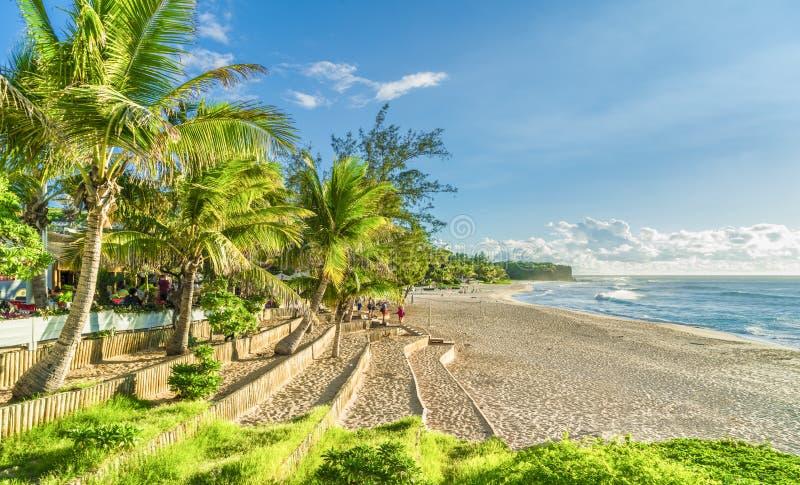 Praia de Boucan Canot em Reunion Island, África fotos de stock