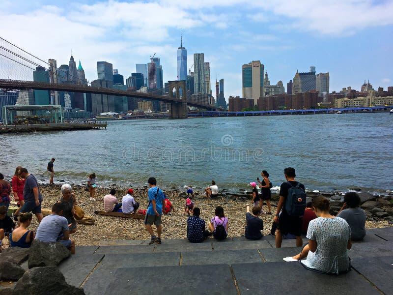 Praia de Brooklyn em Dumbo imagem de stock royalty free