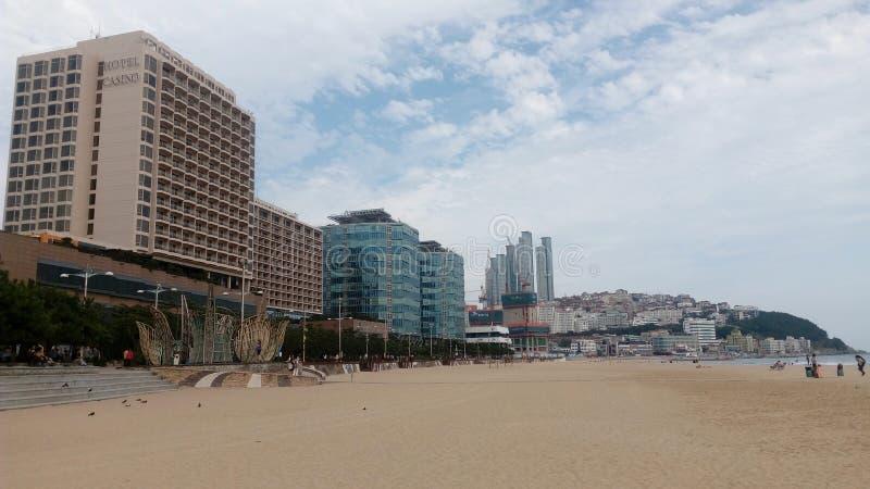 Praia de Busan Haundae imagens de stock royalty free