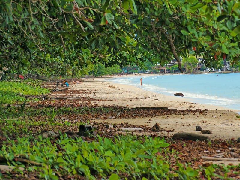 Praia de Cahuita fotos de stock royalty free
