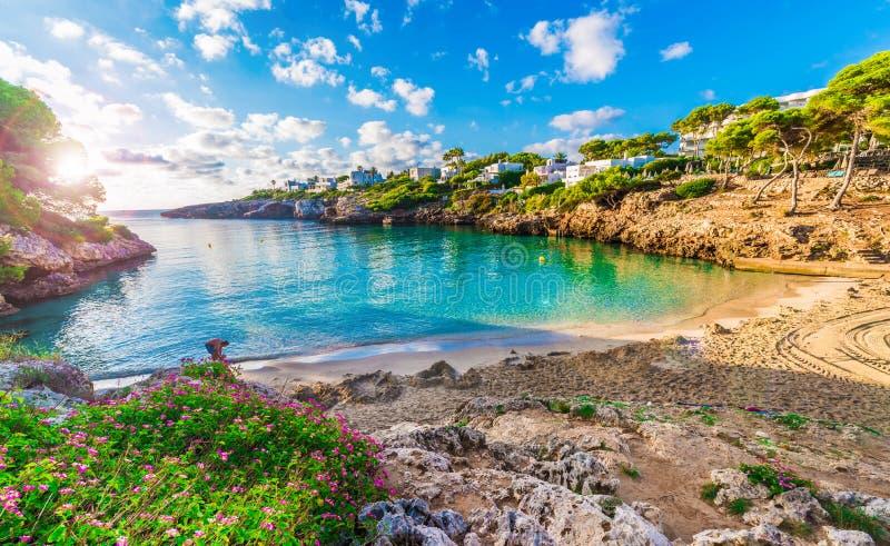 Praia de Cala Esmeralda, Palma Mallorca imagens de stock royalty free