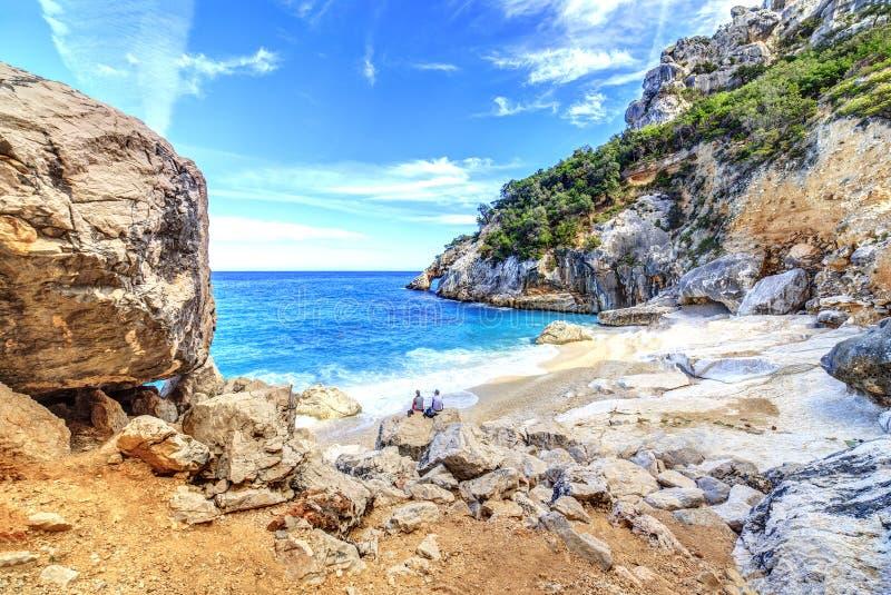 Praia de Cala Goloritze, Sardegna imagens de stock