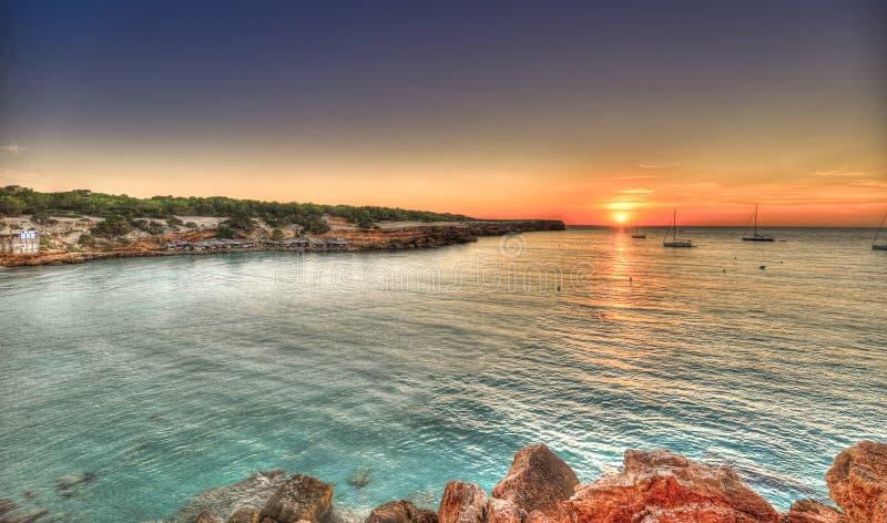 Praia de Cala Saona em Formentera fotografia de stock