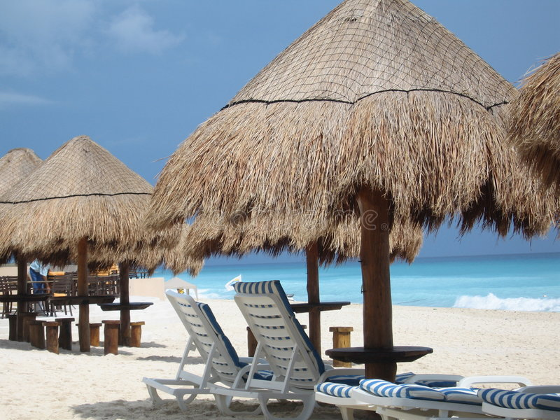 Praia de Cancun imagem de stock