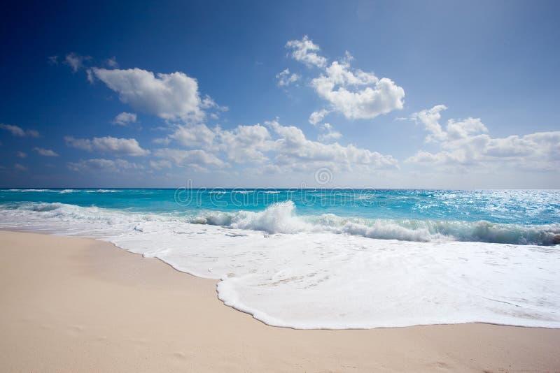 Praia de Cancun foto de stock