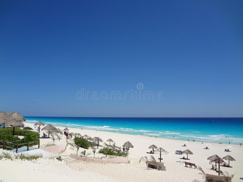 Praia de Cancun fotografia de stock royalty free