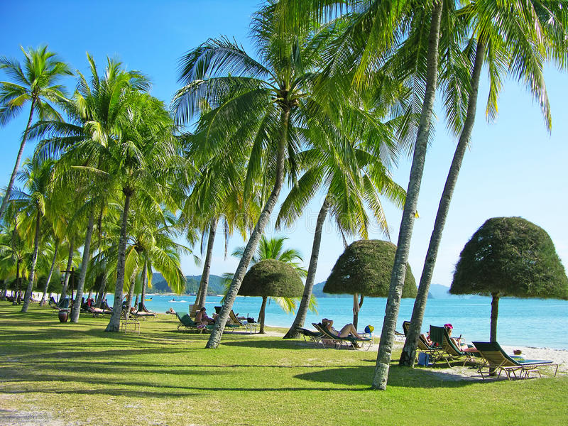 Praia de Cenang, Langkawi, Malaysia fotos de stock royalty free
