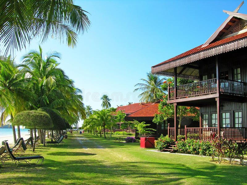Praia de Cenang, Langkawi, Malaysia imagens de stock royalty free