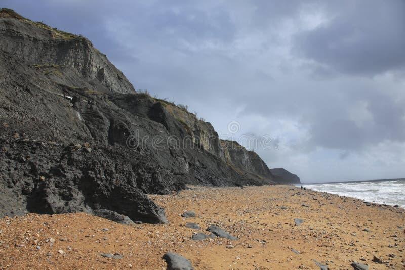 Praia de Charmouth em Dorset fotografia de stock royalty free