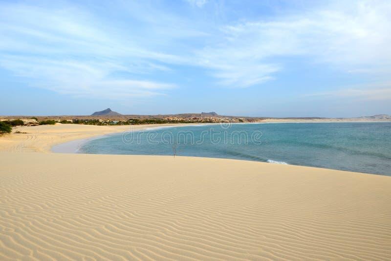 Praia de Chaves Beach, Boa Vista, Cape Verde. Praia de Chaves Beach in Boa Vista, Capo Verde, at Sunset royalty free stock photography