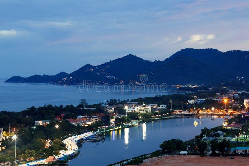 Praia de Chaweng em Koh Samui Thailand imagem de stock royalty free