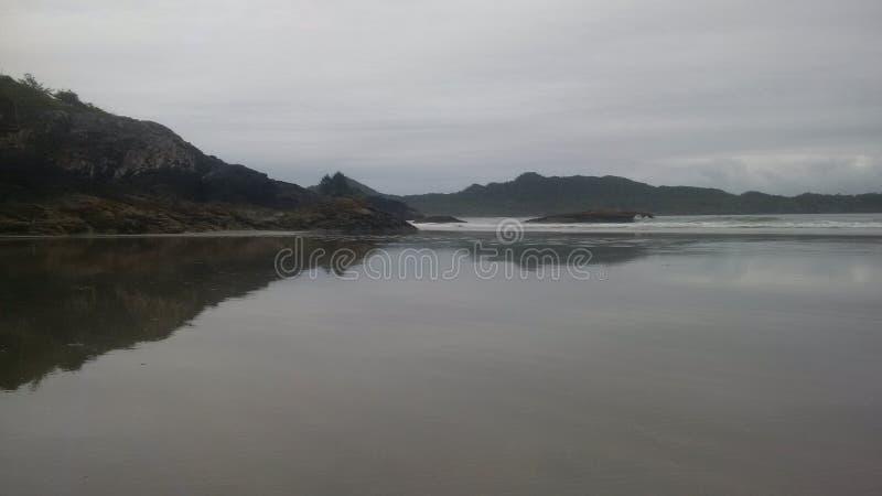 Praia de Chesterman em Tofino sul fotos de stock