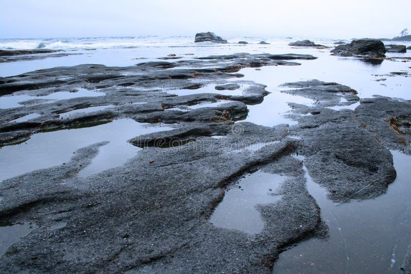 Praia de China, console de Vancôver imagem de stock royalty free