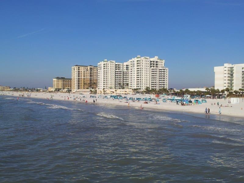 A praia de Clearwater, apenas votou a 1 praia em América imagem de stock royalty free
