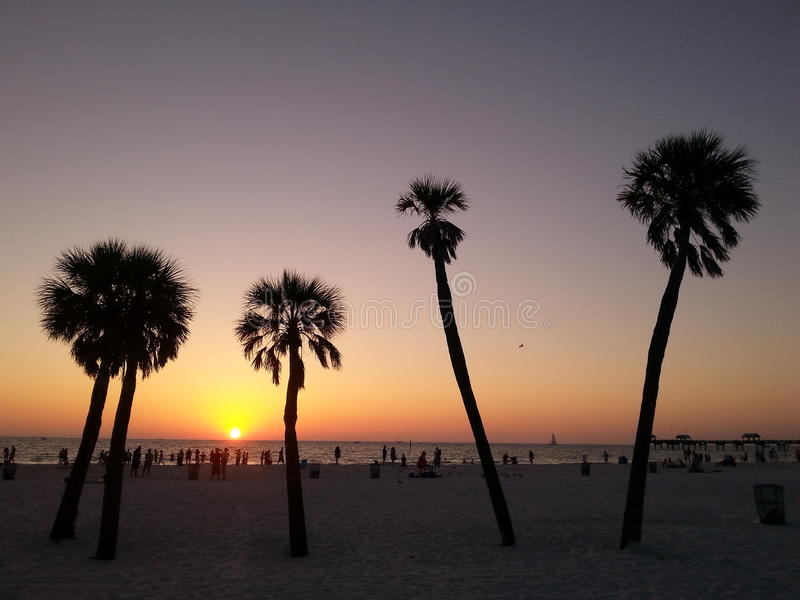 Praia de Clearwater - Florida imagem de stock