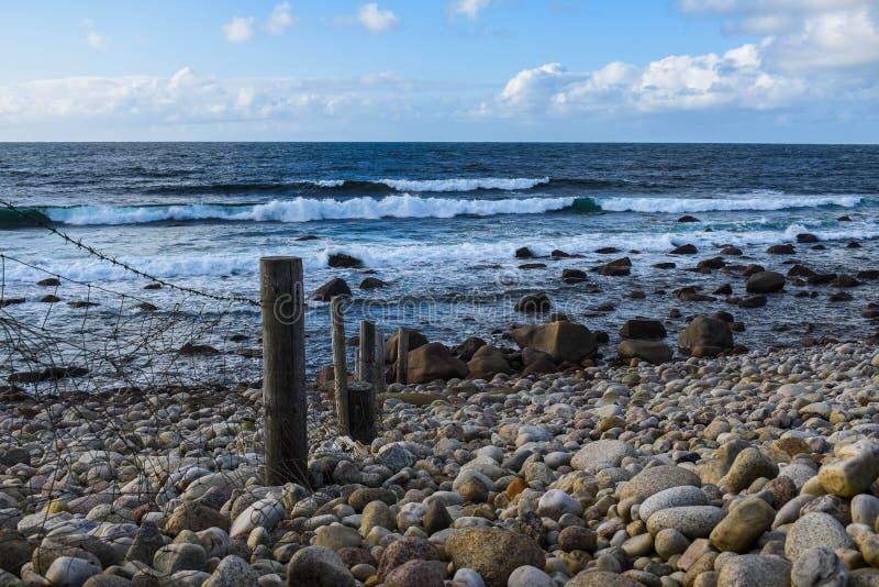 praia de Cobble foto de stock