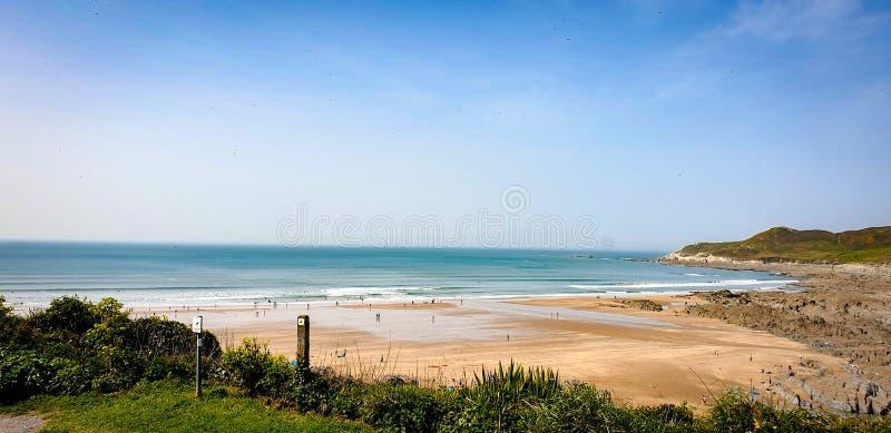 Praia de Combsgate fotos de stock
