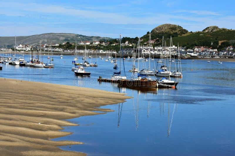 Praia de Conwy imagem de stock royalty free